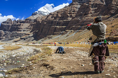 Path Of Faith (Feng Wei Photography) Tags: china travel color tourism horizontal trek religious worship colorful asia outdoor religion pray buddhism tibet holy sacred ritual tibetan spiritual kailash pilgrimage kora pilgrim kowtow tibetanbuddhism kailas ngari burang taqin