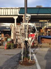 Salvage skeleton 3 (plasticfootball) Tags: skeleton tennessee dickson peekinside folkartsculpture
