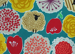 2484B -- Kawaii Retro Sheep with Large Flowers in Pine Green, Japanese Cotton Fabric, Cosmo Textile, Light Weight Cotton Canvas (ikoplus) Tags: flowers light green animal japan pine japanese with sheep sewing large retro canvas made textile fabric cotton commercial kawaii supplies cosmo weight georgeous 2484b ikoplusfabric