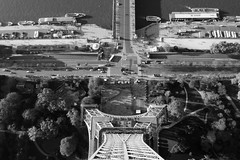 """""""Or else"""", the big gambler added, """"you can take the Big Dive"""" (nosha) Tags: bw paris france tower beautiful beauty eiffeltower dive eiffel 2014 nosha paris2014"""