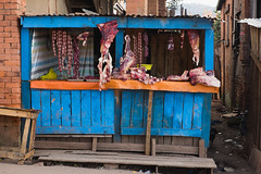 Butcher shop - no one uses refrigerators, they just buy food the day they cook it.