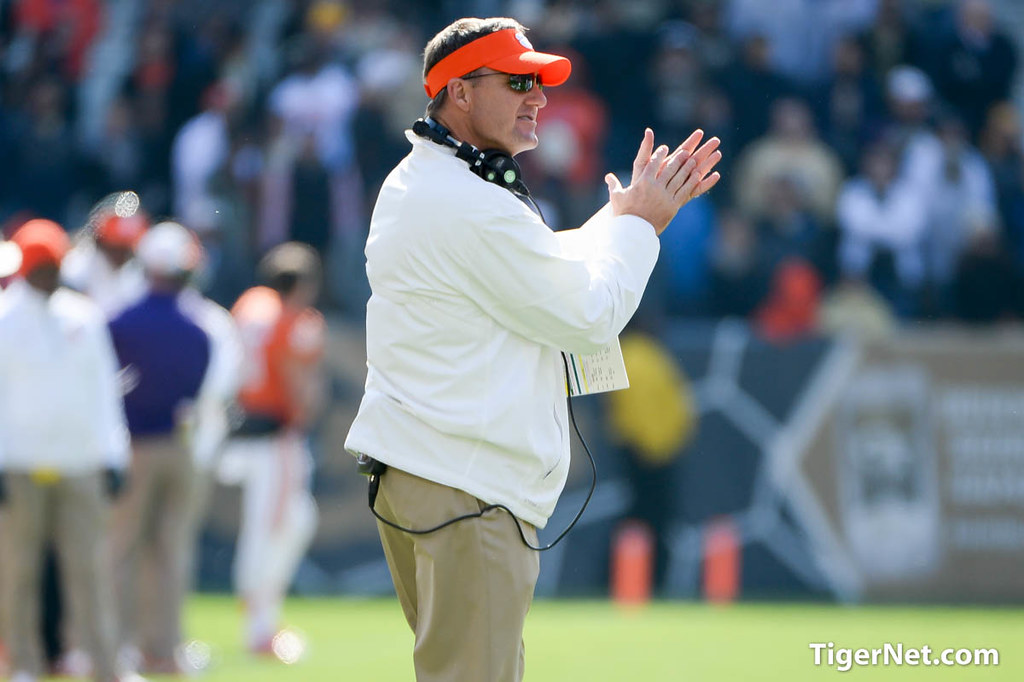 Clemson Photos: Chad  Morris, Football, 2014, Georgia  Tech