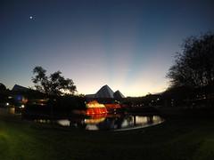 Epcot Sunset (Rhys A.) Tags: world trees earth disney palm fisheye journey imagination spaceship walt gopro