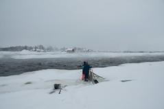 gefrorener fluss / frozen river (behind-de-scenes) Tags: river frozen fishing fluss kukkola fischen gefroren tornio