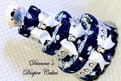 Polar Bear Penguins Baby Diaper Cake (Dianna's Diaper Cakes) Tags: girls baby cakes boys shower diaper gift newborn centerpiece gender neutral