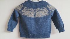 Sweet William by Ann Kingstone (LucciolaS) Tags: rabbit sweater knitting dk topdown fairisle knitted rowan seamless yoke feltedtweed