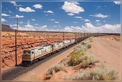 BMLP EA022, Page (AZ) 30.5.2014 (VTZK) Tags: arizona lake black electric train wire unitedstates general zug page powell powerplant coal ge overhead mesa trein bovenleiding lechee kolentrein e60c