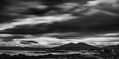 Broadford Bay (Ruth Hayton) Tags: sea skye monochrome landscape island mono coast scotland long moody highland broadford exxposure