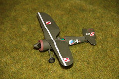 1/72 Polish Border Guard PZL P.11c fighter by MasterCraft (szogun000) Tags: canon airplane model fighter aircraft wwii polish plastic ww2 kit kop 172 mastercraft b07 pzl pzlp11c p11c polishborderguard septembercampaign canoneos550d canonefs18135mmf3556is