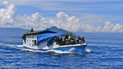 Boat from Alor to Pantar, NTT Indonesia