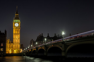 Big Ben across the Thames, London UK
