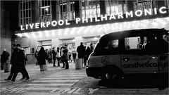 one night only!!! (Raymond Paul - SP) Tags: people blackandwhite bw candid taxi streetphotography nightscene nightlife citystreets afterdark hopestreet urbanstreets inthecity lifeinblackandwhite liverpoolphilharmonichall streetsofliverpool fujix20 fujixcamera seriousstreetphotographers liverpoolpicturebook
