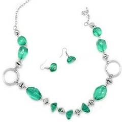 Glimpse of Malibu Green Necklace P2820A-4