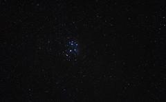 Pleiades 04.10.14 (Myrialejean) Tags: stars astrophotography astronomy taurus pleiades astrometrydotnet:status=solved astrometrydotnet:id=nova942591