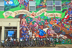 The Community Cycling Center (Ian Sane) Tags: camera robin wall oregon canon portland lens ian eos cycling store community mural colorful mark district arts center images bicycles ii alberta 5d usm avenue northeast 17th sane the f4l corbo ef1740mm