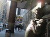 Ralph Kramden on a Sunny Day 3609 (Brechtbug) Tags: new york city winter holiday cold bus weather statue bronze port lunch is jackie uniform day authority january tie sunny front terminal an midtown his while chilly jolly gleason ralph stands drivers straightening pail clutching clad manhattans honeymooners 2015 kramden eightfoottall kramdon 01082015