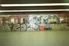Amsterdam (DrGarageland) Tags: art station amsterdam graffiti metro sub joker 1992 piece