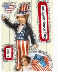 Artist Trading Card for Dad - 54 (booboo_babies) Tags: 2005 art atc artisttradingcard collage america vintage unitedstates flag american mailart july4 independenceday redwhiteblue oldfashioned