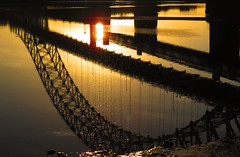 Reflection (Netty Vanity) Tags: bridge sunset england sky nature canon widnes runcornbridge skyporn canonsx50hs