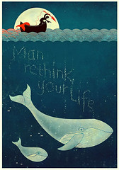 rethink (ikoneo) Tags: ocean animal illustration hunting rights whale protection whaling rethink
