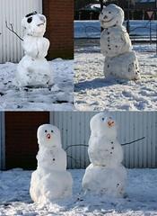 Sneeuwpoppen (fotorotterdam) Tags: winter snow snowman rotterdam december sneeuw snowmen sneeuwpop sneeuwpoppen