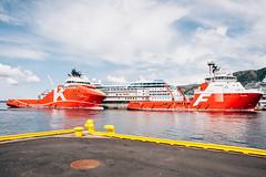 Norvge, Bergen (BlondieISFC) Tags: city norway digital port boat nikon ship harbour bergen nikkor dslr scape norvge d700