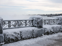 Frosty Railing (jMack Photo) Tags: winter ontario ice niagara falls railing