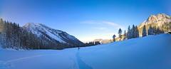 winter blues (koaxial) Tags: p1011551a8p1011558amercatora koaxial olympus epl5 panorama winter 2015 hugin berge mountains aussicht view light licht walk snow schnee white weiss stümpfling valley tal spitzing schliersee blau blue stitch pano
