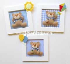 Quadrinhos para decorao do quarto do Beb (Feltrolandia) Tags: do beb quarto feltro decorao pipa nascimento quadros bales ursos quadrinhos quartinho ursinhos feltrolndia