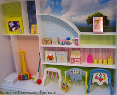 Last one for now - The Baby Store! :) (wpnschick) Tags: happyfamily barbiefurniture 16thscale playscale barbieaccessories barbiestore miniaturestore miniaturediorama basicfunkeychain 16thscalediorama miniaturefisherprice happyfamilynursery miniaturebabystore happyfamilybabystore barbiebabystore