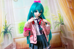 Hatsune Miku Ribbon Girl (AsepsFire) Tags: dollfie volks dollfiedream volksdoll vocaloid hatsunemiku ribbongirl