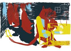 ninakaunhunter (ninakaun) Tags: wood red birds illustration breakfast drawing books hunter catman ninakaun