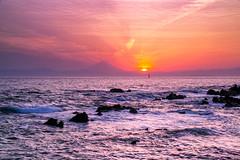 Sunset Fuji (shinichiro*_back) Tags: sunset orange japan evening spring purple may kanagawa 2016  arasaki  sd1m sigmasd1merrill sigma18300mmf3563dcmacrooshsm crazyshhin 20160505sdim2172
