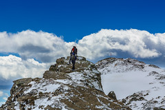 Above the sky and even higher (Alessandro Iaquinta) Tags: blue winter friends italy mountain snow mountains cold trekking canon landscape reflex friend italia colours sunday adventure 5d fullframe dslr appennino onthetop abetone 5dmarkiii