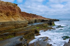 Point Loma Tide Pools in San Diego (Joe Son Nguyen) Tags: ocean pool point san rocks waves pacific tide diego cliffs loma