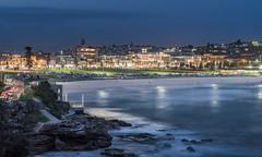 Bondi Beach, Sydney (baeloco!) Tags: sea beach bondi night lights surf nightscape sydney australia playa nsw