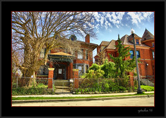 Detroit Homes (the Gallopping Geezer 3.5 million + views....) Tags: old house building home mi canon michigan detroit sigma structure historic neighborhood hdr geezer brushpark dwelling 24105 2016 5d3