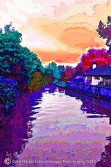 Sunset on the River - Bridge Street, Christchurch Canvas Best 2015-10-30 web (saraharris.sh64) Tags: christchurch photography digitalart dorset digitalmanipulation bridgestreet kaleyedoscope saraharris photomanipulatiion kaleyedoscopephotography