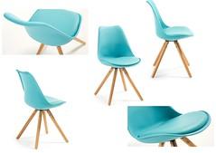 Bralf sedia celeste (design italiano) Tags: sedia legno faggio plastica polipropilene massello ecopelle