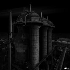 Industrial, Duisburg Germany (Springer@WW) Tags: germany deutschland europa europe industrial nrw duisburg industrie landschaftsparknord blackwithe schwarzweis