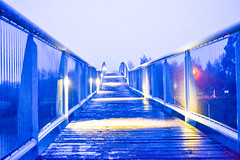 Puente nocturno (Alex Ferrero) Tags: puente agua nueva zelanda tekapo