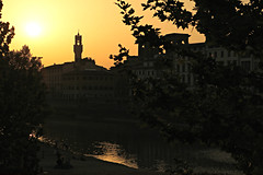 "Aspettando i ""Fochi"" (LaDani74) Tags: sunset river florence san firenze arno niccol"
