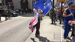 Union | March for Europe | London-61 (Paul Dykes) Tags: marchforeurope brexit eureferendum demonstration manif demo manfestation london uk england 2july2016 campaign remain in strongerineurope piccadilly flag unionflag euflag europeanunionflag unionjack video slowmotion