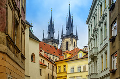 Prague's spires (rvtn) Tags: city architecture europe prague spires gothic czechrepublic churchofourladybeforetn