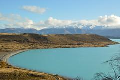 Lake Pukaki - New Zealand (sara.sapucci) Tags: winter newzealand lake southland lakepukaki lightblue glacial mountcook