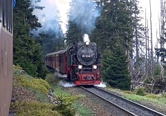 Brocken Saxony-Anhalt Germany 17th May 2016 (loose_grip_99) Tags: railroad train germany tank may engine rail railway trains steam transportation brocken locomotive railways harz narrowgauge 2016 hsb harzer schmalspurbahnen gassteam 2102t 9972407