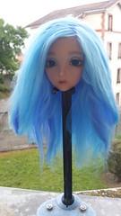 blue wig for MNF (Ektou) Tags: blue handmade lagoon wig bjd msd mnf alpaga