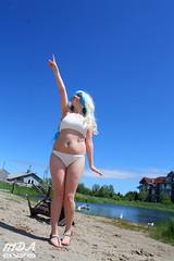 IMG_1759 (MDA Cosplay Photography) Tags: pink blue mountain ontario anime cute beach water pond village collingwood photoshoot princess cosplay tengen manga resort bikini nia swimsuit 2016 toppa gurrenlagann gurren lagann bikinicosplay teppelin gurrenlaganncosplay niacosplay yeticon