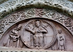 Assisi - Cattedrale di San Rufino (Martin M. Miles - on the road again..) Tags: italy perugia assisi umbria tympanum umbrien pantokrator nursingmadonna assisicathedral gregoryix sanrufino cattedraledisanrufino majestasdomini romanesqueportal marialactans madonnalactans cattedralediassisi