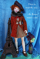 I had to drink the wine... (bentwhisker) Tags: miso doll eiffeltower bjd resin dim 0172 dollinmind